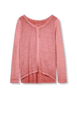 Esprit Shirt van een materiaalmix Blush for Women