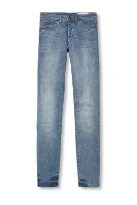 Jean taille haute, patte boutonnée