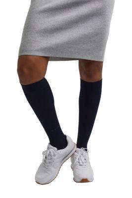 Chaussettes hautes en fine maille
