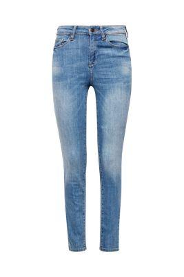 Jean taille haute en denim blanchi