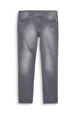 Grijze jeans van elastische denim