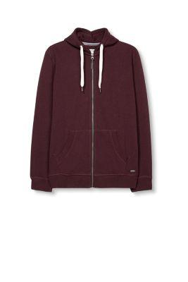Sweater zippé chiné à capuche