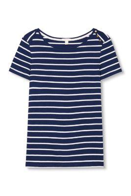 T-shirt à rayures, 100 % coton