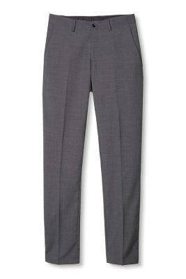 Pantalon bicolore en douce laine mélangée