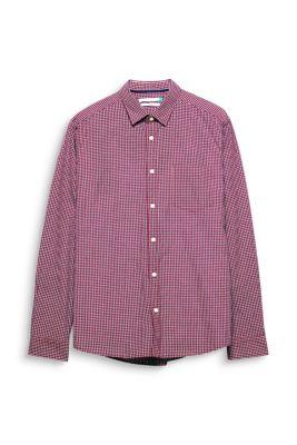 Chemise à carreaux en coton bio
