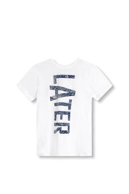 T-shirt à inscription, 100 % coton