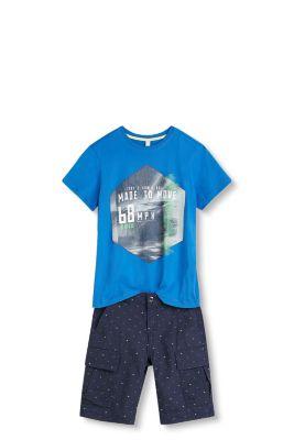 T-shirt imprimé graphique, 100 % coton