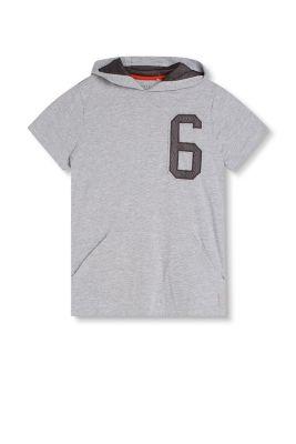 T-shirt à capuche et détails en mesh, coton