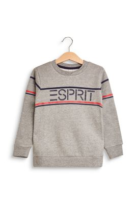 Sweat-shirt à imprimé logo, coton mélangé