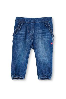 esprit jeans mit r schen 100 baumwolle medium washed. Black Bedroom Furniture Sets. Home Design Ideas