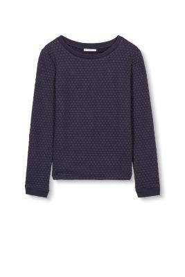 esprit baumwollmix sweatshirt mit struktur navy g nstig schnell einkaufen. Black Bedroom Furniture Sets. Home Design Ideas