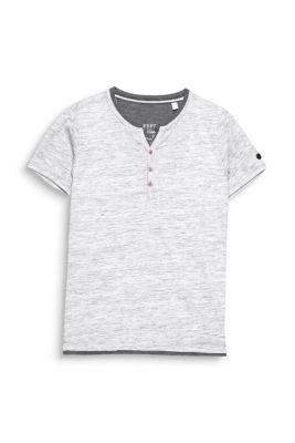 Artikel klicken und genauer betrachten! - Grösseninfo: -Rückenlänge bei Gr. L ca. 72 cm (kann je Gr. leicht variieren) Details: -Dieses T-Shirt aus softem Melange-Jersey verfügt über eine 3-Knopfleiste (Holzknöpfe) am geschlitzten Rundhals-Ausschnitt. Für die angesagte 2-in-1-Optik sorgen farblich abgesetzte Layer-Einsätze an Ausschnitt und Saumabschluss. Mit Layer-Effekt: Henley T-Shirt aus meliertem Jersey (0,95 EUR Versicherungs- und Versandpauschale. Versandkostenfreie Lieferung innerhalb/nach Deutschland + Österreich bei StandardVersand. Es fällt eine geringe Versicherungs- und Verpackungspauschale von 0,95 Euro pro Auftrag an. Im Falle des ExpressVersandes (nur innerhalb Deutschlands) berechnen wir Ihnen eine Versandkostenpauschale von 4,95) | im Online Shop kaufen