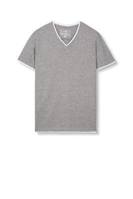 Artikel klicken und genauer betrachten! - Grösseninfo: Bei Gr. L (kann je Gr. variieren): - Länge der Rückenmitte: ca. 71 cm Details: - Das T-Shirt hat einen V-Ausschnitt und ist klassisch gesäumt. - Der gerippte Rundhals ist im Nacken mit Webband verstärkt. - Die reine Baumwolle bietet optimalen Tragekomfort. - Farblich abgesetzte Einsätze an Rundhals, Ärmel und Bündchen sorgen für einen stylischen Layer-Effekt. Mit V-Neck: T-Shirt aus weichem Baumwoll-Mix (0,95 EUR Versicherungs- und Versandpauschale. Versandkostenfreie Lieferung innerhalb/nach Deutschland + Österreich bei StandardVersand. Es fällt eine geringe Versicherungs- und Verpackungspauschale von 0,95 Euro pro Auftrag an. Im Falle des ExpressVersandes (nur innerhalb Deutschlands) berechnen wir Ihnen eine Versandkostenpauschale von 4,95) | im Online Shop kaufen