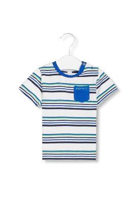 Artikel klicken und genauer betrachten! - Details: - Streifen kommen nie aus der Mode! - Dieses T-Shirt mit Rundhals überzeugt mit einem zweifarbigen Ringel-Design und superbequemem Jersey. - Ein süßes Detail: die kleine Brusttasche mit Logo-Print. - Druckknöpfe in der linken Schulter erleichtern das Überziehen. Mit kleine Brusttasche: T-Shirt im Streifen-Look (0,95 EUR Versicherungs- und Versandpauschale. Versandkostenfreie Lieferung innerhalb/nach Deutschland + Österreich bei StandardVersand. Es fällt eine geringe Versicherungs- und Verpackungspauschale von 0,95 Euro pro Auftrag an. Im Falle des ExpressVersandes (nur innerhalb Deutschlands) berechnen wir Ihnen eine Versandkostenpauschale von 4,95) | im Online Shop kaufen